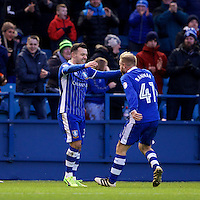 Sheffield Wednesday v Huddersfield Town, 14.1.2017<br /> <br /> EFL Sky Bet Championship<br /> Picture Shaun Flannery/Trevor Smith Photography<br /> <br /> Wednesday's Ross Wallace (33) celebrates his goal.