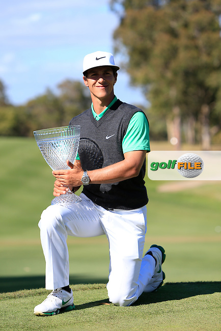 Thorbjorn Olesen (DEN) winner of the ISPS HANDA Perth International at the Lake Karrinyup Country Club on Sunday 26th October 2014.<br /> Picture:  Thos Caffrey / www.golffile.ie