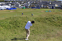 Pedro Figueiredo (POR) plays his 2nd shot from the rough on the 2nd hole during Thursday's Round 1 of the Dubai Duty Free Irish Open 2019, held at Lahinch Golf Club, Lahinch, Ireland. 4th July 2019.<br /> Picture: Eoin Clarke | Golffile<br /> <br /> <br /> All photos usage must carry mandatory copyright credit (© Golffile | Eoin Clarke)
