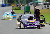 Jun. 18, 2011; Bristol, TN, USA: NHRA pro stock driver Vincent Nobile during qualifying for the Thunder Valley Nationals at Bristol Dragway. Mandatory Credit: Mark J. Rebilas-