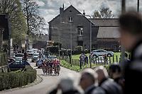 Early Break away group early race. with Tsgabu Grmay (ETH/Trek Segafredo), G Lawson Craddock (USA/Cannondale Drapac), Kevin Teltombe (BEL/Sport Vlaanderen Baloise), Edward Dunbar (IRL/Aqua Blue Sport), ..<br /> <br /> <br /> 53th Amstel Gold Race (1.UWT)<br /> 1 Day Race: Maastricht &gt; Berg en Terblijt (263km)