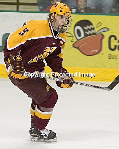 Andy Sertich - The University of Minnesota Golden Gophers defeated the University of North Dakota Fighting Sioux 4-3 on Friday, December 9, 2005, at Ralph Engelstad Arena in Grand Forks, North Dakota.