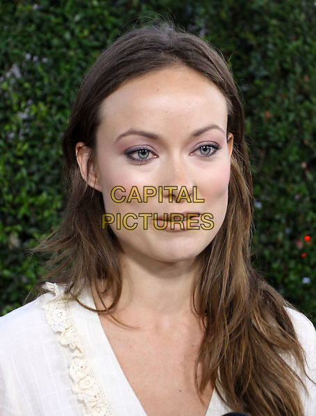 "OLIVIA WILDE.""Capitalism: A Love Story"" Los Angeles Premiere held At AMPAS Samuel Goldwyn Theater, Beverly Hills, California, USA..September 15th, 2009.headshot portrait mouth open funny face white.CAP/ADM/KB.©Kevan Brooks/AdMedia/Capital Pictures."