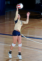 Florida International University women's volleyball player Silvia Carli (9) plays against Florida A&M University.  FIU won the match 3-0 on September 11, 2011 at Miami, Florida. .