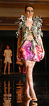 Modes work the runway at the Christian Lacroix American Friends of the Louvre fashion show at the home of Becca Thrash Tuesday Feb. 20,2007.(Dave Rossman/For the Chronicle)