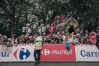 fans atop the Mur de Péguère (Cat1/1375m/9.3km/7.9%)<br /> <br /> 104th Tour de France 2017<br /> Stage 13 - Saint-Girons › Foix (100km)