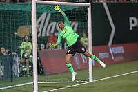 Portland, OR - Saturday August 18, 2018: Adrianna Franch (24) during a regular season National Women's Soccer League (NWSL) match between the Portland Thorns FC and the Chicago Red Stars at Providence Park.