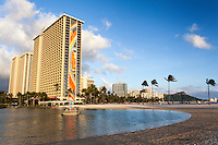 The Hilton's Rainbow Tower, Waikiki, O'ahu.