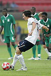 13 August 2008: Sacha Kljestan (USA) scores a penalty kick goal.  The men's Olympic team of Nigeria defeated the men's Olympic soccer team of the United States 2-1 at Beijing Workers' Stadium in Beijing, China in a Group B round-robin match in the Men's Olympic Football competition.