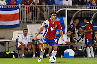 Costa Rica defender Christopher Meneses (14). The United States defeated Costa Rica 1-0 during a CONCACAF Gold Cup group B match at Rentschler Field in East Hartford, CT, on July 16, 2013.