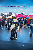 CANADA, Vancouver, British Columbia, shot of a young couple hugging at Magical Duck Island, Richmond Asian Night Market