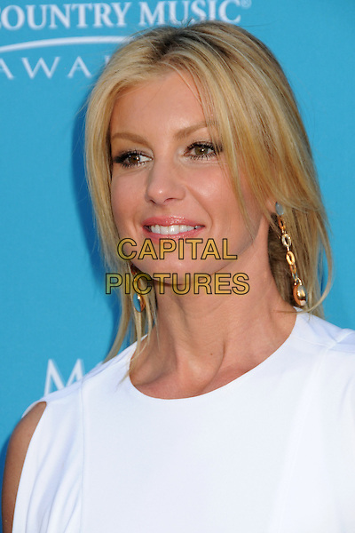 FAITH HILL.45th Annual Academy Of Country Music Awards - Arrivals held at the MGM Grand Garden Arena, Las Vegas, Nevada, USA..April 18th, 2010.ACM headshot portrait white dangling earrings.CAP/ADM/BP.©Byron Purvis/AdMedia/Capital Pictures.
