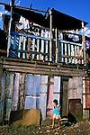 Barraco na Favela Vila Prudente, São Paulo. 1987. Foto de Juca Martins..