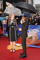 "Nicole Kidman and husband, singer, Keith Urban arriving for the ""Paddington"" world premiere at the Odeon Leicester Square, London. 23/11/2014 Picture by: Steve Vas / Featureflash"