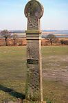 A87DH6 Replica Saxon cross of St Botolph Iken cliff Suffolk England