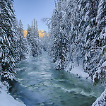 Idaho, North,   Sandpoint. Grouse Creek in the Cabinet Mountains of North Idaho in winter. Jan 3rd, 2016.