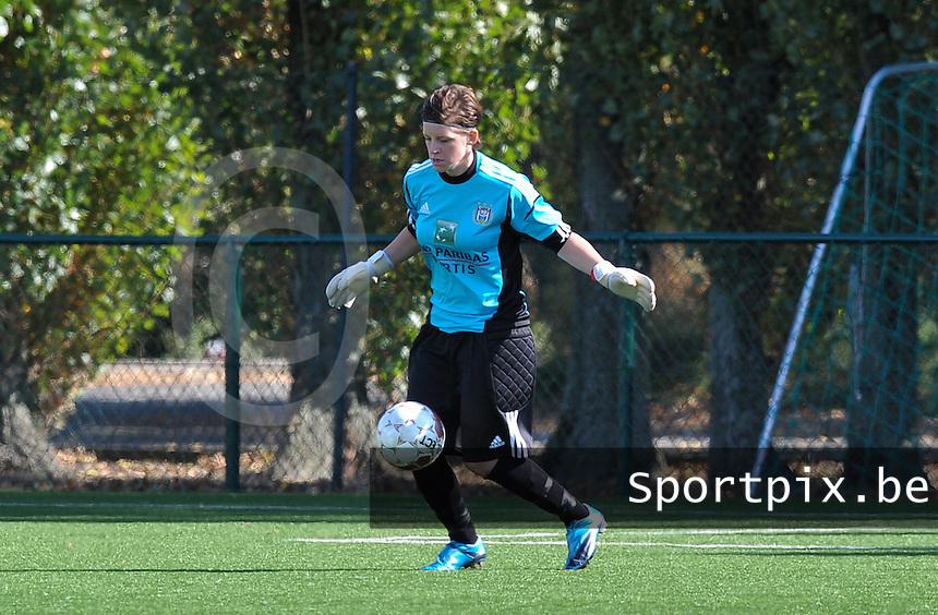 Dames Zulte Waregem - RSC Anderlecht : Lynn Senaeve.foto DAVID CATRY / Vrouwenteam.be
