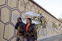 Roma, marzo 2015<br /> Murales nel quartiere popolare del Quadraro nella periferia sud est di Roma.<br /> Il nido di vespe di Lucamaleonte.