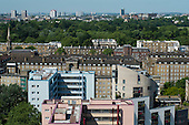 Camden Council housing: Regents Park Estate viewed from Ampthill Square Estate, Camden Town