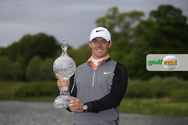 Rory McIlroy (NIR) winner of the Dubai Duty Free Irish Open, The K Club, Straffan, Co. Kildare<br /> Picture: Golffile | Fran Caffrey<br /> <br /> <br /> All photo usage must carry mandatory copyright credit (&copy; Golffile | Fran Caffrey)