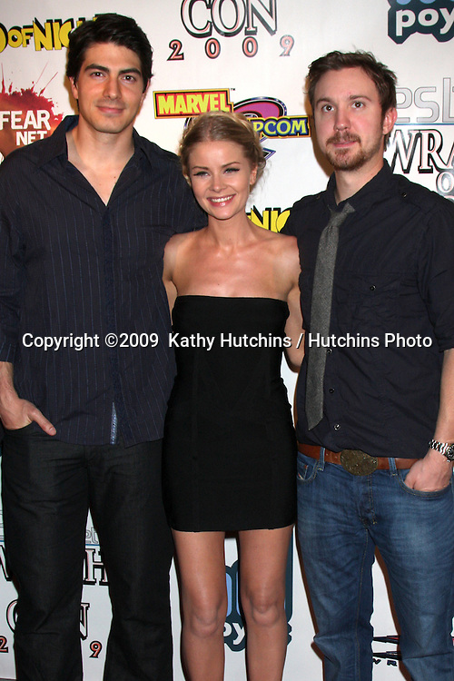 Brandon Routh, Anita Briem, Sam Worthington arriving at the Wrath of Con Party at the Hard Rock Hotel in San Diego, CA on July 24, 2009.©2009  Kathy Hutchins / Hutchins Photo....
