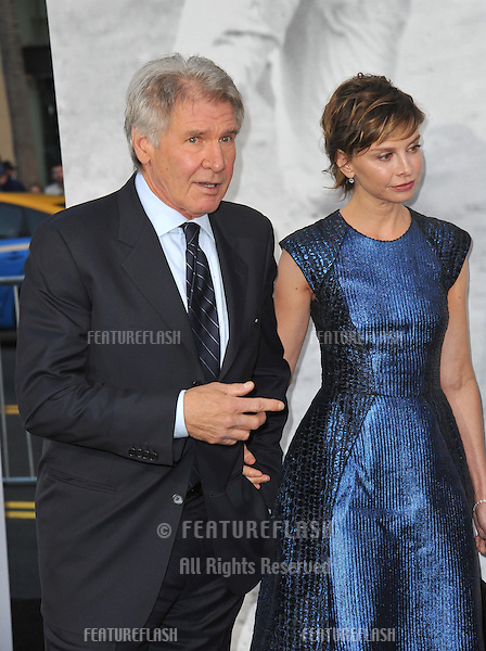 "Harrison Ford & wife Calista Flockhart at the Los Angeles premiere of his new movie ""42: The True Story of An American Legend"" at the Chinese Theatre, Hollywood..April 9, 2013  Los Angeles, CA.Picture: Paul Smith / Featureflash"