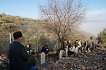 Eid al Adha holiday in the Circassian (Muslim) village Rehaniya in the Upper Galilee, Israel. The men are praying at the cemetery, 2005<br />
