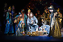 London, UK. 01.04.2014. The Kolobov Novaya Opera presents PRINCE IGOR at the London Coliseum. Picture shows: Act II - Polovtsian Camp, with Prince Igor (Sergey Artamonov - centre) and Konchak (Vladimir Kudashev - right). Photograph © Jane Hobson.