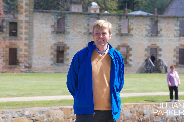 Crown Prince Willem-Alexander & Crown Princess Maxima of the Netherlands six-day tour of Australia..Visit to Port Arthur..