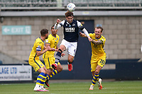 Tom Bradshaw of Millwall rises abve Ben Wilmot of Swansea City during Millwall vs Swansea City, Sky Bet EFL Championship Football at The Den on 30th June 2020