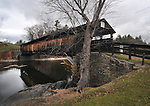 Perrine's Covered Bridge, crossing the Wallkill Creek off Route 213, north of New Paltz, NY, on Sunday, November 20, 2016. Photo by Jim Peppler; Copyright Jim Peppler 2016.