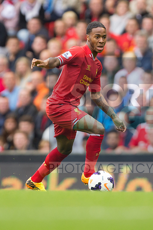 Raheem Sterling of Liverpool - Liverpool vs. Stoke City -  Premier League - Anfield - Liverpool - 17/08/2013 Pic Philip Oldham/Sportimage