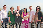 DOUBLE BABY JOY: Proud parents Mark Kane, Tullamore and Mairead Kelly, Ardfert of twins Orla and Eabha who where Christened at St Brendan's Church, Ardfert and celebrated afterwards with family and friends at the Ballyroe Heights hotel l-r: Gabriel Martin, Kay O'Sullivan, Mark Kane, Orla Kelly Kane, Mairead Kelly, Eabha Kelly Kane, Brendan Cunningham and Lerie Houlihan.