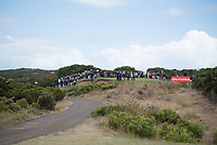 Fans around the green during the 3rd round of the VIC Open, 13th Beech, Barwon Heads, Victoria, Australia. 09/02/2019.<br /> Picture Anthony Powter / Golffile.ie<br /> <br /> All photo usage must carry mandatory copyright credit (© Golffile | Anthony Powter)