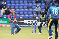 Najbullah Zadran (Afghanistan) reverse sweeps for four during Afghanistan vs Sri Lanka, ICC World Cup Cricket at Sophia Gardens Cardiff on 4th June 2019