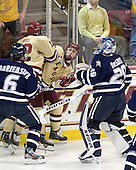 Trevor van Riemsdyk (UNH - 6), Kevin Hayes (BC - 12), Chris Kreider (BC - 19), Casey DeSmith (UNH - 29) - The Boston College Eagles defeated the visiting University of New Hampshire Wildcats 4-3 on Friday, January 27, 2012, in the first game of a back-to-back home and home at Kelley Rink/Conte Forum in Chestnut Hill, Massachusetts.