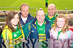 Claire O'Callaghan, James Breen, David Callaghan, Micheal Brosnan and Niamh Callaghan, Tralee, Kerry fans pictured at the GAA Chamoionship Quarter Final at Semple Stadium, Thurles on Sunday.
