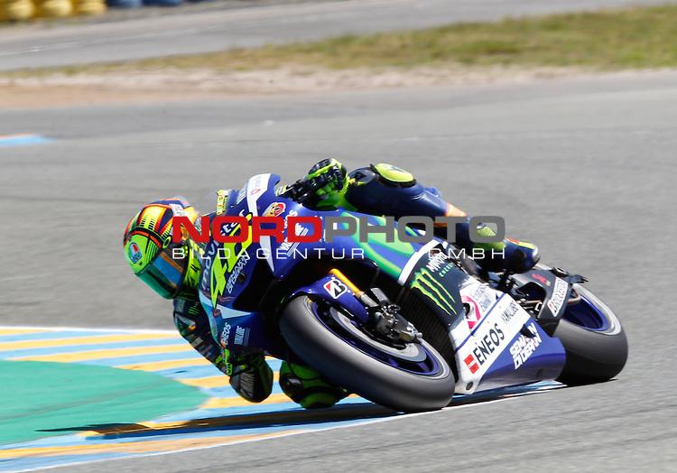 Monster Energy Grand Prix de France in Le Mans 15.-17.05.2015, Free Practice, Warm Up, Rennen<br /> <br /> 46 Valentino Rossi / Italien<br /> <br /> Foto &copy; nordphoto / FSA