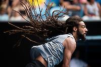 DUSTIN BROWN (GER)<br /> <br /> TENNIS , AUSTRALIAN OPEN,  MELBOURNE PARK, MELBOURNE, VICTORIA, AUSTRALIA, GRAND SLAM, HARD COURT, OUTDOOR, ITF, ATP, WTA<br /> <br /> &copy; TENNIS PHOTO NETWORK