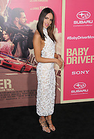 "14 June 2017 - Los Angeles, California - Eiza Gonzalez. Los Angeles Premiere of ""Baby Driver"" held at the Ace Hotel Downtown in Los Angeles. Photo Credit: Birdie Thompson/AdMedia"