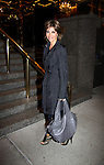 Days of Our Lives Lisa Rinna returns to her hotel in New York City, New York on October 6, 2010 after signing her new book at Bookends in Ridgewood, New Jersey. The new reality show Harry Loves Lisa started airing on TVLand tonight. (Photo by Sue Coflin/Max Photos)