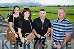 l-r  Tara Murray, Mary Murray, Joe Murray and John Duchan enjoying the North Kerry Harriers Point to Point at Ballybeggan Tralee on Saturday