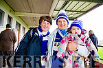 UP FOR THE GAME: Templenoe ladies Mary Foley, Ann Carolan and granddaughter Ellie Fleming wearing their blue and white colours.