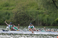 Lucerne, SWITZERLAND<br /> <br /> RSA LM4- Clinch a place at Rio 2016 European Olympic Qualifying Regatta, Lake Rotsee.<br /> <br /> Tuesday  24/05/2016<br /> <br /> [Mandatory Credit; Peter SPURRIER/Intersport-images]