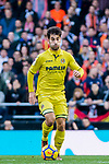 Manuel Trigueros Munoz of Villarreal CF in action during the La Liga 2017-18 match between Valencia CF and Villarreal CF at Estadio de Mestalla on 23 December 2017 in Valencia, Spain. Photo by Maria Jose Segovia Carmona / Power Sport Images