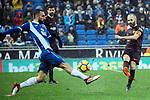 League Santander 2017-2018 - Game: 22.<br /> RCD Espanyol vs FC Barcelona: 1-1.<br /> Sergi Darder vs Andres Iniesta.