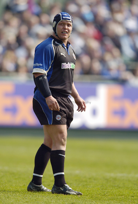 Photo: Jonathan Butler..Bath Rugby v Bristol Rugby. European Challenge Cup. 31/03/2007..Pieter Dixon of Bath.