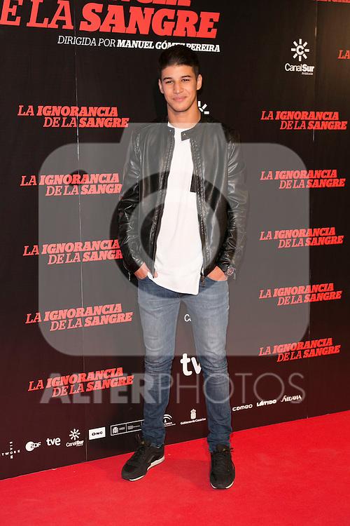 "Adib Coucouse attends ""La Ignorancia de la Sangre"" Premiere at Capitol Cinema in Madrid, Spain. November 13, 2014. (ALTERPHOTOS/Carlos Dafonte)"
