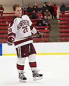 Luke Greiner (Harvard - 26) - The Class of 2013 was celebrated following the final Harvard Crimson home game of the season on Saturday, March 2, 2013, at Bright Hockey Center in Cambridge, Massachusetts.