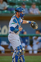 Tre Todd (11) of the Ogden Raptors during the game against the Orem Owlz at Lindquist Field on June 22, 2019 in Ogden, Utah. The Owlz defeated the Raptors 7-4. (Stephen Smith/Four Seam Images)